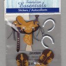 Sandylion Essentials Scrapbooking Stickers WESTERN saddle horse shoe cowboy boot 3D - ES05