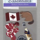 Sandylion Essentials Scrapbooking Stickers CANADA beaver hockey ice wine maple leaf 3D - ES06