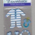 Sandylion Essentials Scrapbooking Stickers BABY BOY pacifier newborn infant 3D - ES09