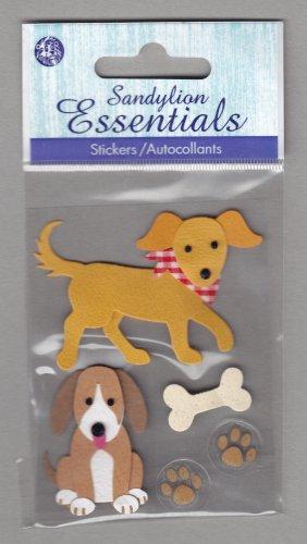 Sandylion Essentials Scrapbooking Stickers DOG bone best friend guard 3D - ES16