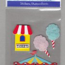Sandylion Essentials Scrapbooking Sticker AMUSEMENT PARK carosel cotton candy fair 3D - ES20