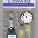 Sandylion Essentials Scrapbooking Stickers NEW YEAR'S champagne celebration 3D - ES26