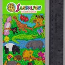 Sandylion MAXI stickers vintage EXOTIC JUNGLE ANIMALS