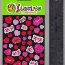 Sandylion MAXI stickers vintage LOVE HUGS & KISSES hearts valentine
