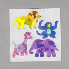 Sandylion Zoo Animals Stickers Rare Vintage PM96
