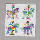 Sandylion Carousel Horses Stickers Rare Vintage PM191