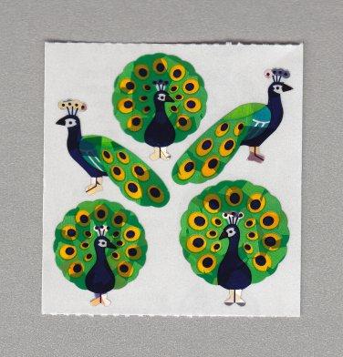 Sandylion Peacock Stickers Rare Vintage PM223