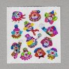 Sandylion Clowns Micro Stickers Rare Vintage PM353