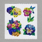 Sandylion Pansies Stickers Rare Vintage PM354