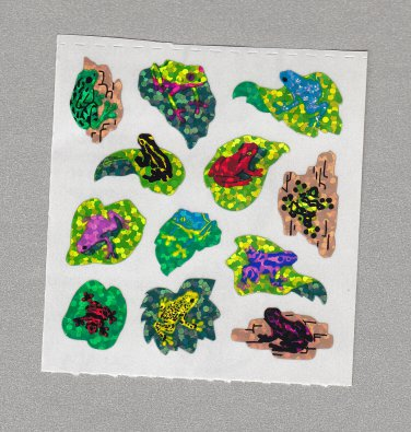 Sandylion Frogs Rainforest Stickers Rare Vintage PM369