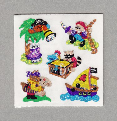 Sandylion Pirate Adventure Stickers Rare Vintage PM413