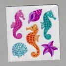 Sandylion Seahorse and Seashells Stickers Rare Vintage PM415