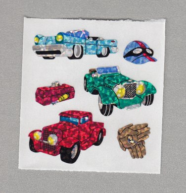 Sandylion Old Fashioned Cars Stickers Rare Vintage PM424
