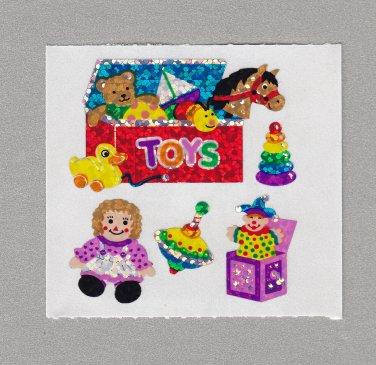 Sandylion Toy Chest Box Stickers Rare Vintage PM450