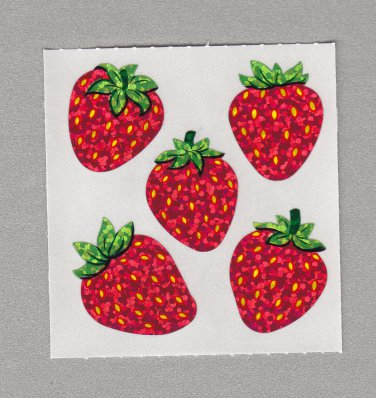 Sandylion Strawberries Stickers Rare Vintage PM455
