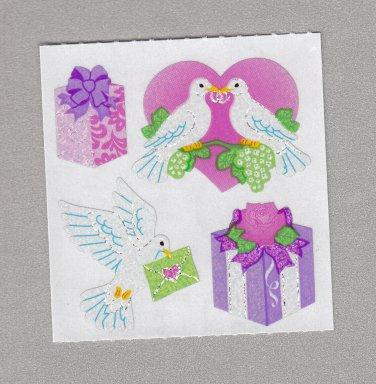 Sandylion Wedding Doves Stickers Rare Vintage PM475