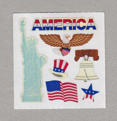 Sandylion Patriotic American Stickers Rare Vintage PM488