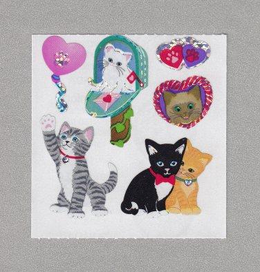 Sandylion Kitten Love Stickers Rare Vintage PM511
