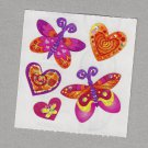 Sandylion Butterfly and Hearts Stickers Rare Vintage PM526