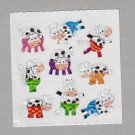 Sandylion Patterned Cows Stickers Rare Vintage PM605