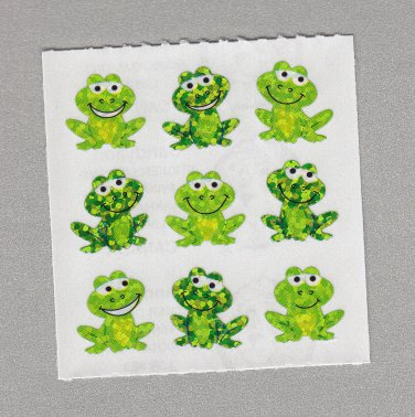 Sandylion Playful Frogs Stickers Rare Vintage PM608