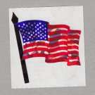 Sandylion American Flag with Pole Stickers Rare Vintage PM902
