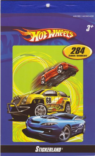 Hot Wheels - 284 Stickers - Stickerland Sticker Pad