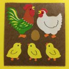 Sandylion Chicken Family egg chicks Stickers Rare Vintage KK45