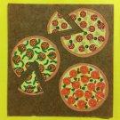 Sandylion Pizza  Stickers Rare Vintage KK163