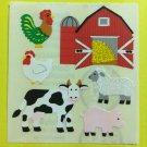 Sandylion Farm Rooster Chicken Barn Pig Cow Sheep Hay Stickers Rare Vintage KK220