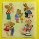 Sandylion Animal Hugs & Kisses Bears Bunnies Bunny Baby Smooch Stickers Rare Vintage KK298