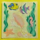 Sandylion Tropical Aquarium Fish Shell Seahorse Starfish Stickers Rare Vintage KK321