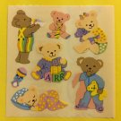 Sandylion Baby Bears Cuddly Blanket Rattle Stickers Rare Vintage KK323