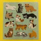 Sandylion Cats Kittens Playful Siamese Tabby Persian Black Stickers Rare Vintage KK332