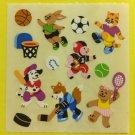 Sandylion Animals Playing Sports Tennis Hockey Soccer Basket Ball Tennis Stickers Rare Vintage KK347