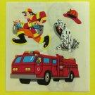 Sandylion Fireman Fire Truck Ladder Dalmation Dog Water Stickers Rare Vintage KK358