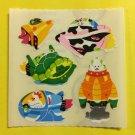 Sandylion Space Ship with Animals Stickers Rare Vintage KK362