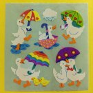 Sandylion Ducks with Umbrellas Stickers Rare Vintage KK363