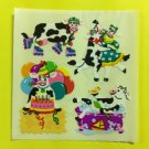 Sandylion Cows having Fun Party Birthday Roller Skates Dancing Stickers Rare Vintage KK367