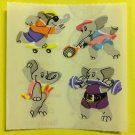 Sandylion Elephants having Fun Weight Lifting Ballet Tennis Skateboard Stickers Rare Vintage KK369