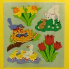 Sandylion Spring Time Flowers Tulip Bird Rabbit Duck Daffodil Sheep Stickers Rare Vintage KK379