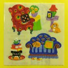 Sandylion Funky Retro Furniture Couch Chair Lamp Stool Stickers Rare Vintage KK380