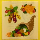 Sandylion Autumn Harvest Thanksgiving Pumpkin Indian Corn Stickers Rare Vintage KK404