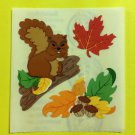 Sandylion Squirrel Nuts Leaves Leaf Fall Thanksgiving Harvest Stickers Rare Vintage KK411