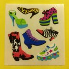 Sandylion Shoes Funky Cowboy Boots Sneakers Platform Stickers Rare Vintage KK419