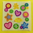 Sandylion Buttons Star Heart Bear Bunny Retro Stickers Rare Vintage KK420