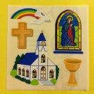 Sandylion Christian Church Religious Cross God Dove Stickers Rare Vintage KK421