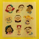 Sandylion Facial Expressions Happy Sad Crying Shocked Smurk Angry Stickers Rare Vintage KK433