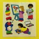 Sandylion Children Artist Painter Color Draw Creative  Stickers Rare Vintage KK436