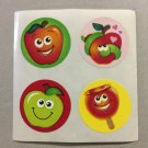 Sandylion Scratch and Sniff Smelly Apple Stickers Retro Rare Vintage KK500